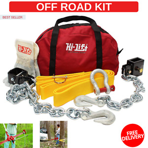 Off Road Kit Winch Manually Tree Strap Stuck Recovery Tool Jeep Truck Tow High