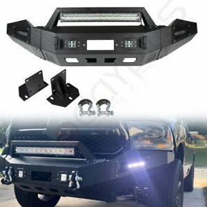 Front Bumper For 16 18 Dodge Ram 1500 Complete Pickup Truck Bright Led Lights
