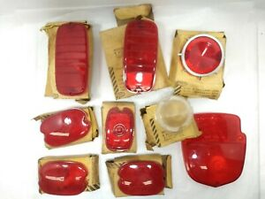 Vintage Glo Brite Stop Tail Light Lens Lot Of 9 Nos Chevy Ford Chevrolet