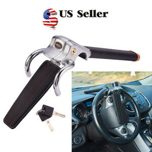 Universal Car Vehicle Steering Wheel Lock Anti theft Devices W 2 Keys Safety Us