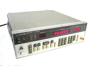 Hewlett Packard Hp 8656a Synthesized Signal Generator 0 1 990mhz Am Fm Hpib