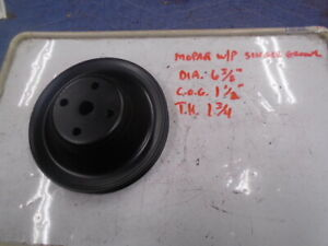 Mopar Single Groove Water Pump Pulley 6 3 8 Dia