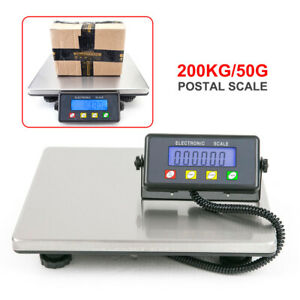 200kg 50g Digital Electronic Lcd Postal Scale Shipping Mail Packages Capacity