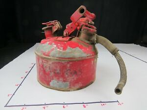 Vintage Justrite Mfg Co Chicago Safety Gas oil Can W Spout