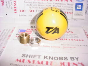 Pantiac Trans Am 6 Speed Custom Rally Shift Knob Gm Licensed yellaw