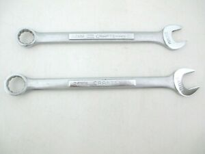 Craftsman Usa 2 Piece Metric Combination Wrench Set 22mm 24mm Vv Series Nice