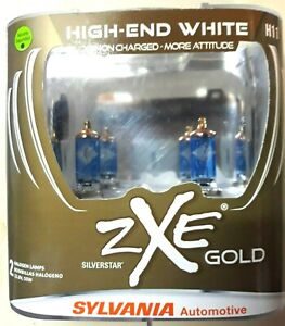 Sylvania H11 Silverstar Zxe Gold Headlight Bulbs Pack Of 2 Sealed L K New