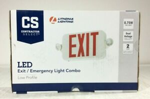 Lithonia Lighting Contractor Select Whitered Integrated Led Exit Emergency Combo