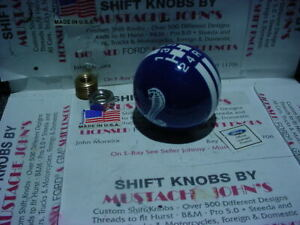 Rally Blue W White Stripes Ford Cobra 5 Speed Shift Knob Ford Licensed