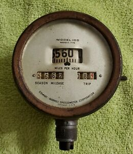 Vintage 1910s 1920s Ford Model T Stewart Warner Model 100 Speedometer Free S