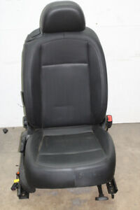 2012 Vw Beetle Coupe Passenger Front Seat Assembly Black Leather