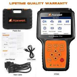 Foxwell Nt680 For Peugeot All Systems Obd2 Diagnostic Scanner Code Reader