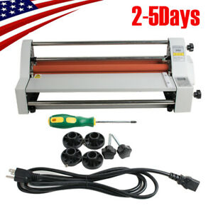 Pro Hot And Cold Roll Laminating Machine Automatic Temperature Control Ship Fast