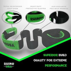 Rhino Usa Recovery Tow Strap 3 X 30ft Lab Tested 31 518lb Break Strength