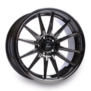 Cosmis Racing R1 Wheel 18x9 5 35mm Offset 5x114 3 Black Chrome Bc Finish