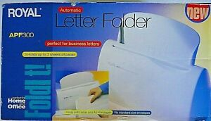 Royal Apf300 Automatic 3 Sheet Letter Folder new In Box