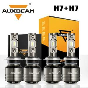 4x Auxbeam H7 Led Headlight Bulbs Hi lo Decoder Canbus For Hyundai Tiburon 03 06