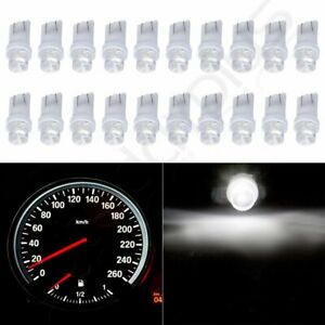 20x White Led Instrument Dash Gauge Speedometer Light Lamp T10 168 194 2825 W5w