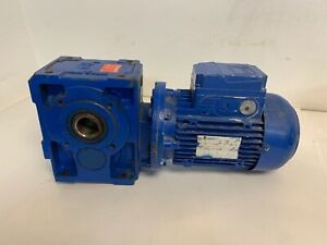 Rossi Electric Motor W gear Reducer Hb 90lc 4 B5 Mr Ici 81 Uo3a 230 460v
