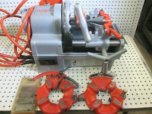 Portable Pipe Threading Machine Ridgid 1215 Two Exc To New 811a 815a Heads