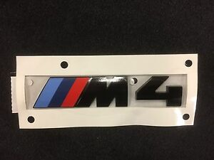 Bmw M4 Rear Emblem In Black Authentic Oem 51148068579 Competition Package Logo