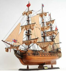 Hms Surprise Tall Ship 37 Built Wood Model Saleboat In Movie Master And Comman