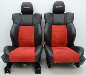 2006 2009 Dodge Charger Srt 8 Chrysler 300 Front Leather Red Suede Sport Seats