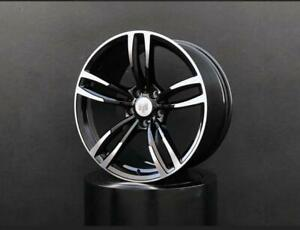 19 wheel Fit Bmw 3 4 5 Series Black machined Face Staggered Set Up