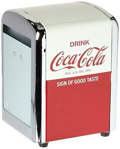 Tablecraft CC381 Coca-Cola Napkin Dispenser  Half  Red