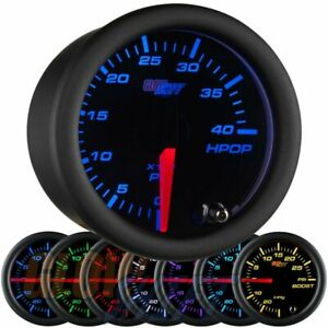 Glowshift Black 7 Color High Pressure Oil Pressure Hpop Gauge 0 To 4 000 Psi