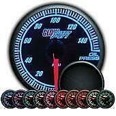 Glowshift 52mm Universal Elite 10 Color Oil Pressure Gauge 0 150 Psi