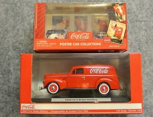 2 Coca Cola Die Cast Collectibles 1:64 & 1:24 40 Ford Delivery Johnny Lightning