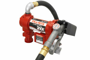 Fill rite 12 Volt Dc High Flow Pump With Hose And Manual Nozzle 20 Gpm Fr4210g