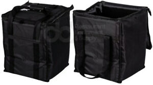 2 Pack Insulated Black Catering Delivery Chafing Dish Food Half Pan Carrier Bag
