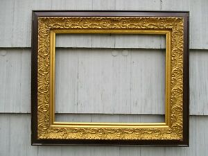 Large Antique Victorian Aesthetic Gilt Gesso Wood Picture Frame Fits 20x16