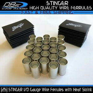 25x Stinger Wire Ferrule Connector 0 4 8 10 12 Gauge Awg Pin Electrical Terminal