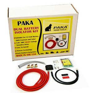 12v 140 Amp Dual Battery Isolator By Paka Tools Voltage Sensitive Relay