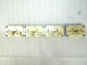 Lot Of 4 Diebold 17570 497 Safe Deposit Locks 3 Rgt And 1 Lft Used