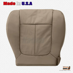 2009 2010 Ford F150 Lariat Driver Bottom Perforated Leather Seat Cover Camel Tan