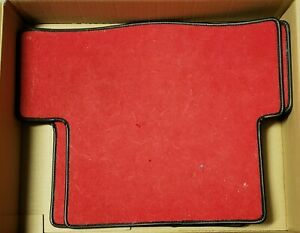 Fiat 124 Spider Red Floor Mats Rear Only