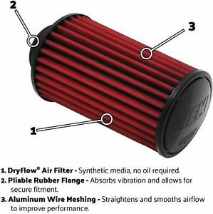 Aem 21 2036dk Universal Dryflow Clamp On Air Filter Round Straight