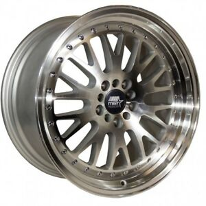 Mst Mt10 17x9 20 5x100 5x114 3 Silver W machined Face set Of 4