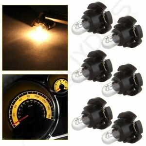 6x Warm White T4 T4 2 Neo Wedge A C Heater Climate Controls Light Halogen Bulbs