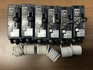 Siemens Circuit Breakers 1p 20amp Gfci New Blhf2 Lot Of 6