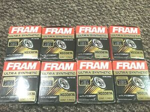 Lot Of 8 Brand New Fram Xg3387a Ultra Synthetic Oil Filters 15 000 Miles
