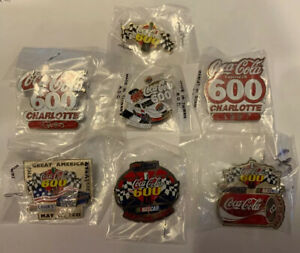 Coca Cola 600 Charlotte/Lowes Motor Speedway 7 Pin Set NASCAR Hat Lapel Pins