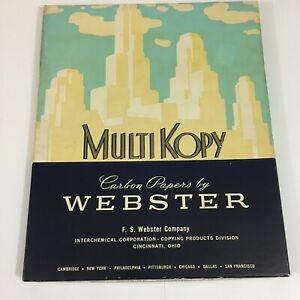 Carbon Paper F S Webster Multi Kopy Vintage Black Medium Finish 8 5x11