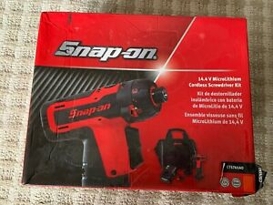 New Snap On Cts761 Cts761ao 14 4v Microlithium 1 4 Cordless Screwdriver Kit