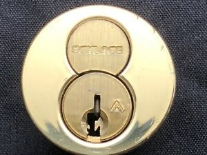 Schlage Everest C123 I c Core 1 1 2 Mortise Cylinder 605 With 2 O bitted Keys
