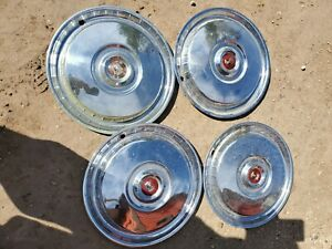 1955 1956 1957 Ford Hubcaps Wheel Cover Center Cap